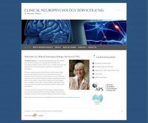 Clinical Neuropsychology Services website developed by DigIdeas