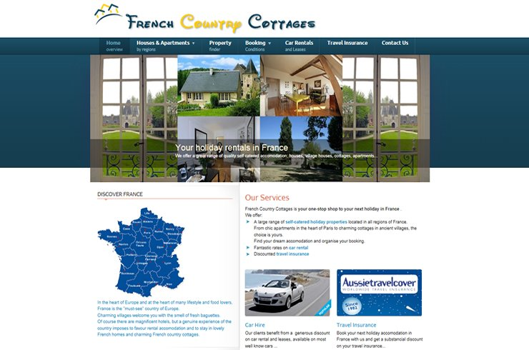 French Country Cottages website