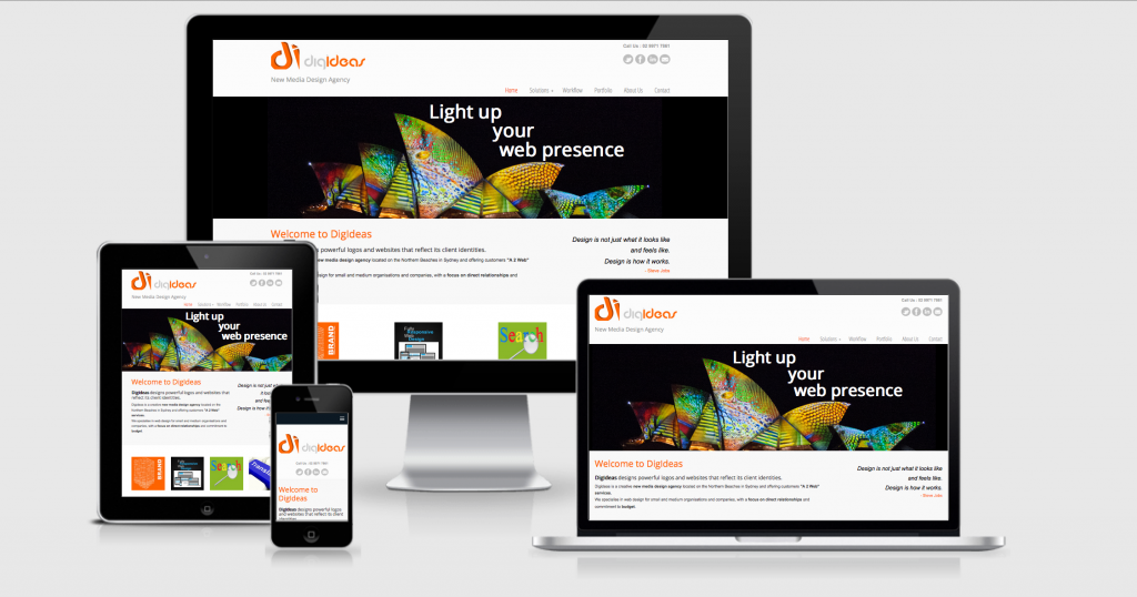 Digideas responsive website