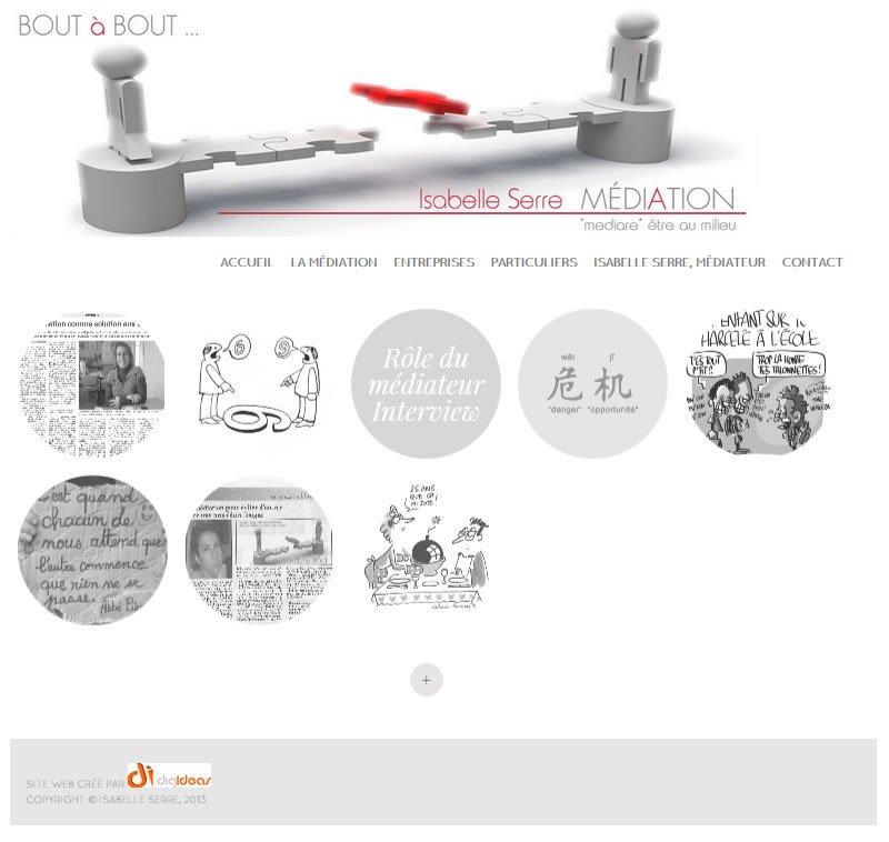 A website in French, 'Mediation en Lorraine'
