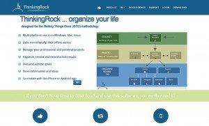 DigIdeas completely redesigned ThinkingRock website