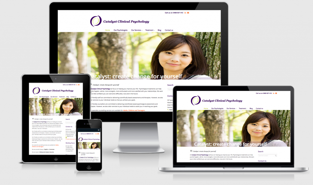 Catalyst Clinical Psychology responsive website